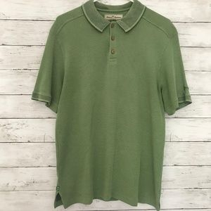Tommy Bahama mens Large Green Silk Cotton Blend